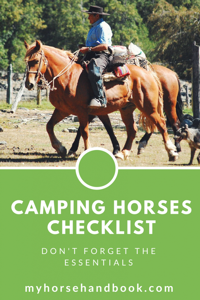 camping with horses checklist
